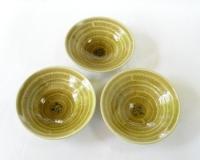黄瓷櫛目銘々皿
